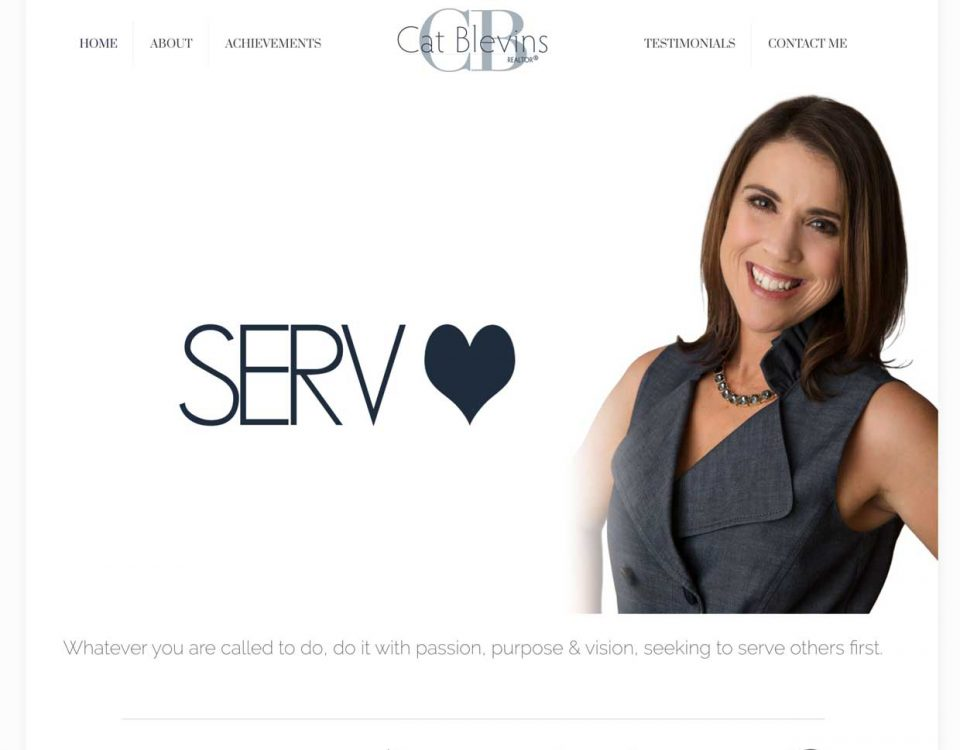 Cat Blevins realty homepage