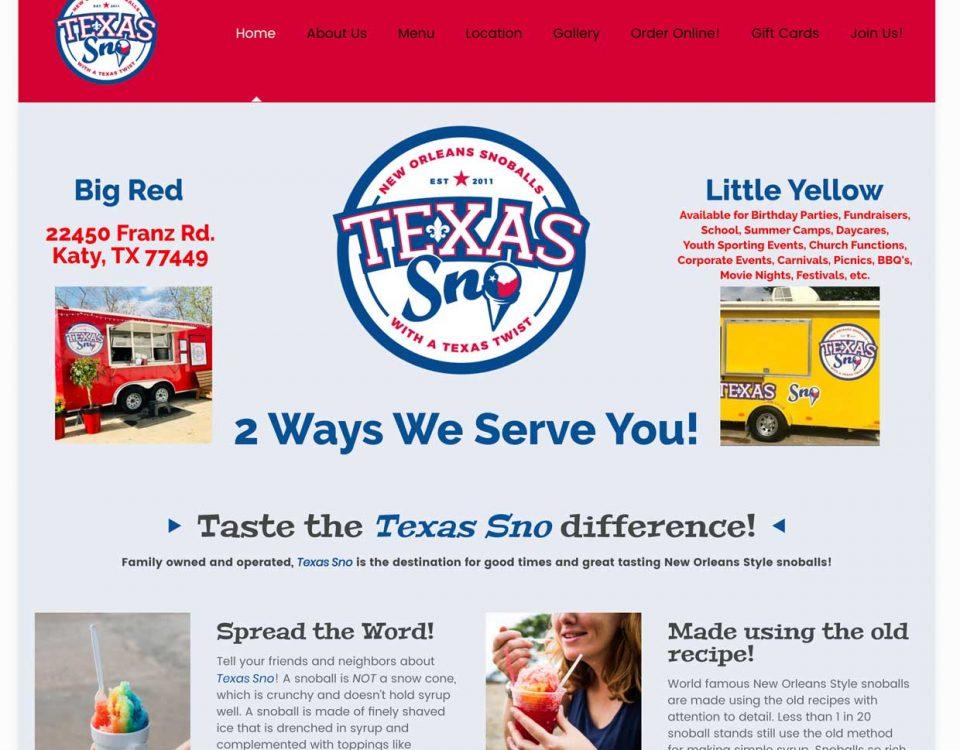 Texas sno homepage