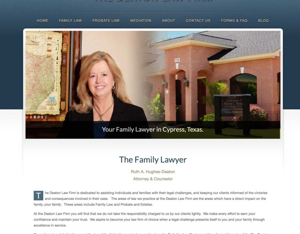Ruth Deaton family law homepage