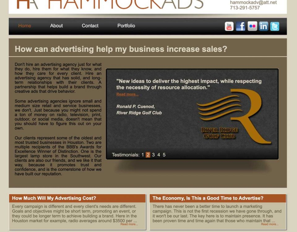 hammock ads homepage