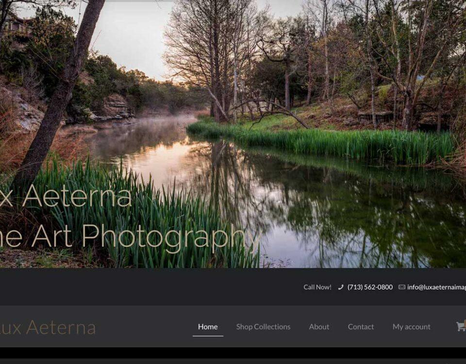 Lux Aeterna Images website