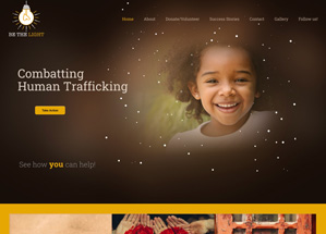 Be The Light: Combatting Human Trafficking homepage