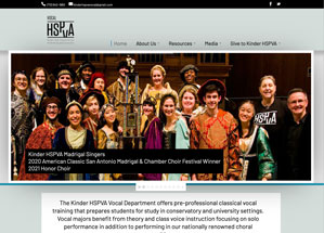 Kinder HSPVA Vocal homepage