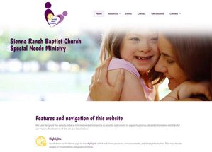 Sienna Ranch Baptist Church Special Needs homepage