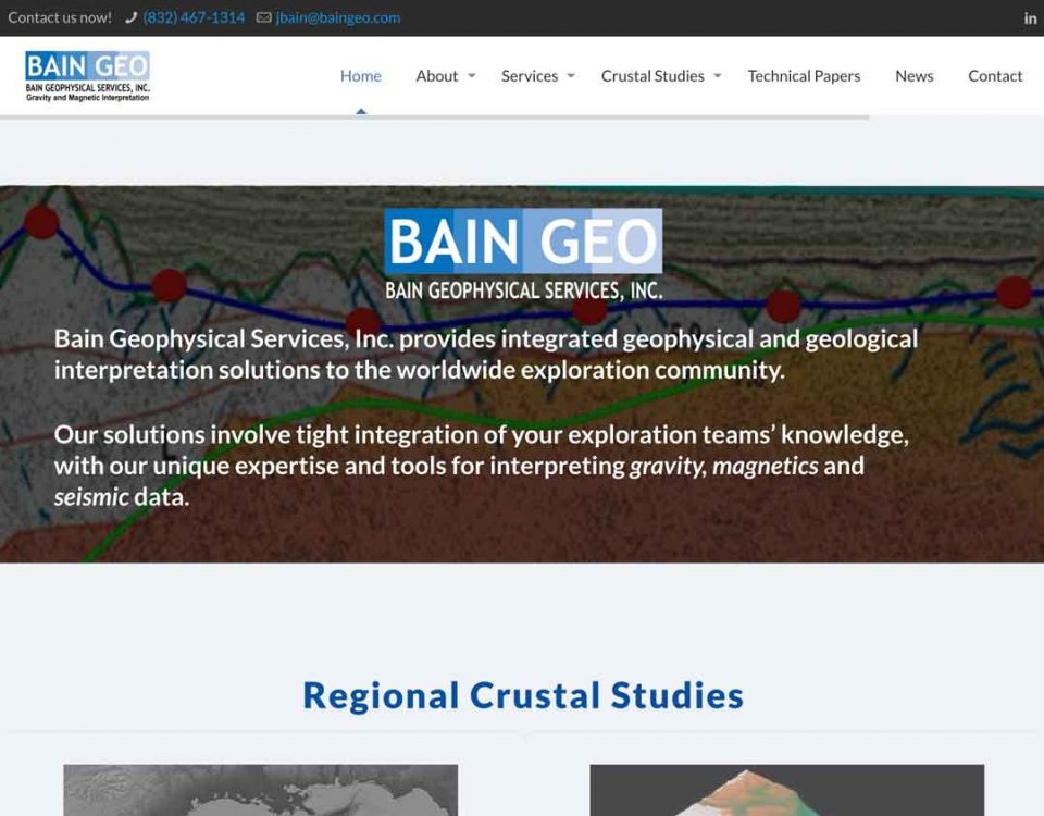 Bain Geophysical Services website