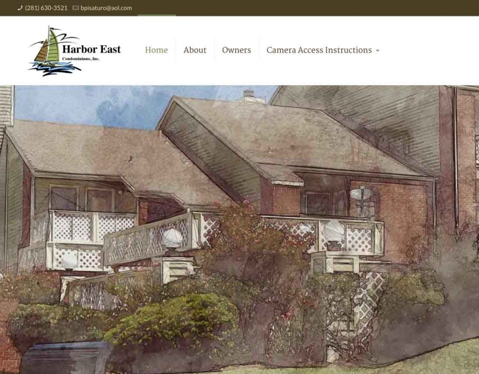 Harbor East Galveston Condos website