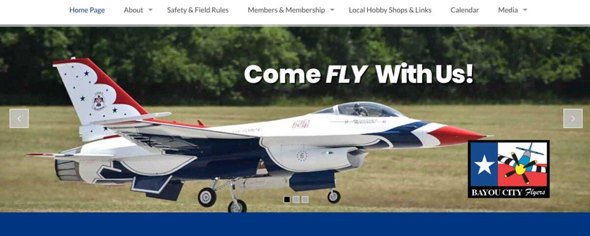 Bayou City Flyers website
