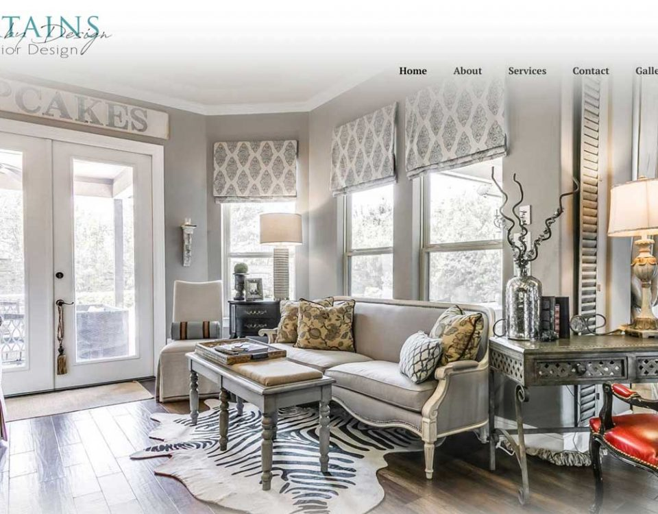 Curtains by Design Houston website