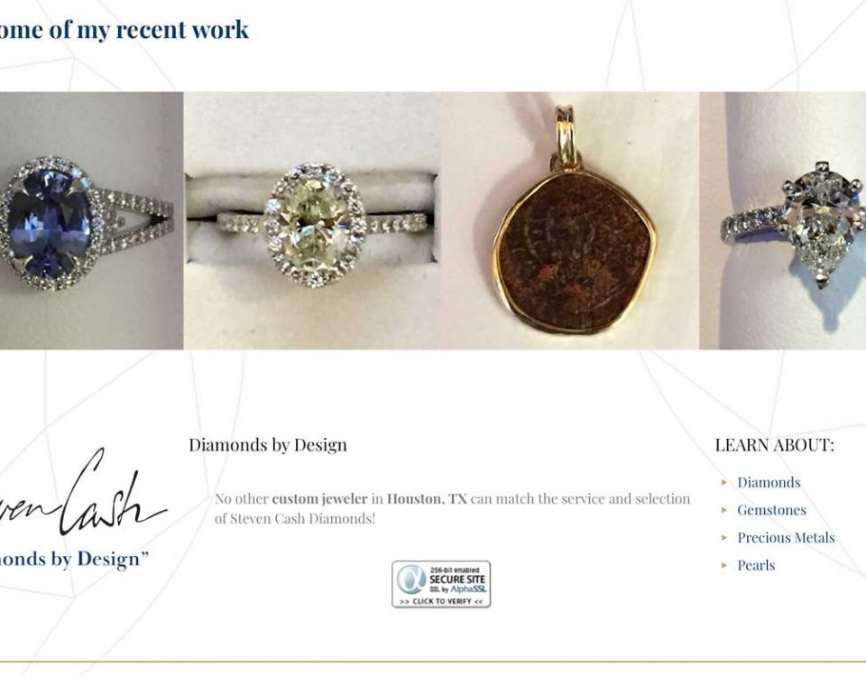 Steven Cash Diamonds by Design website